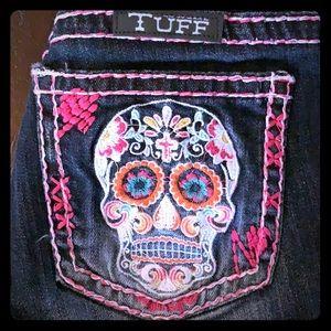 Cowgirl Tuff Skull shorts